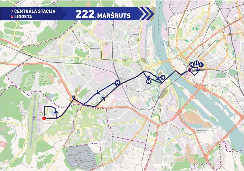 Ruta 222, Riga