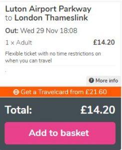 Exemplu de rezervare a unui bilet