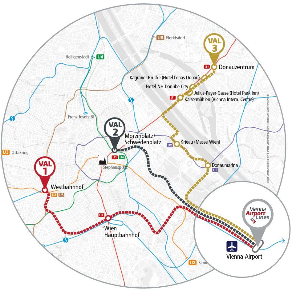 Sistemul de rute Vienna Airport Lines