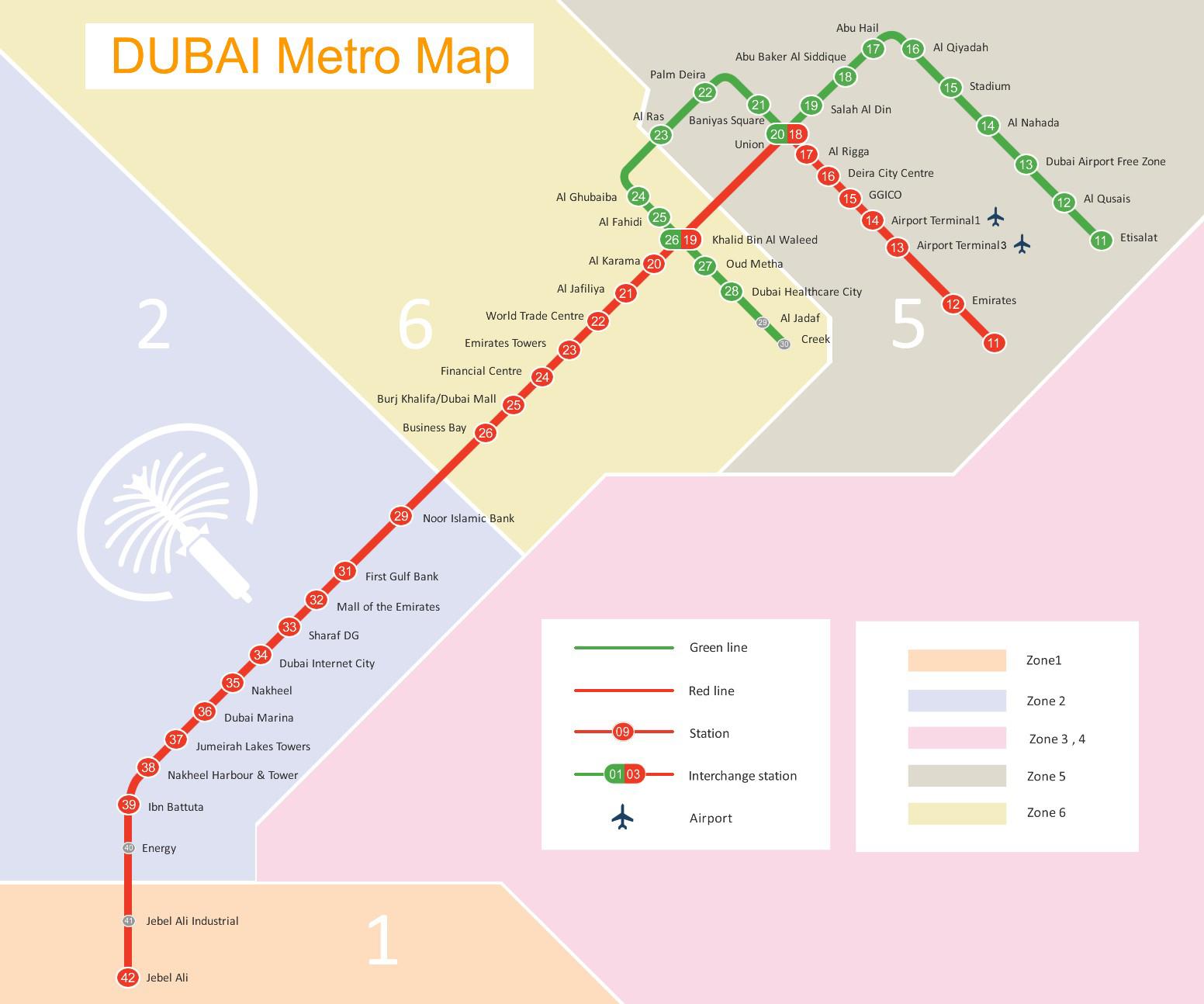Schema metro Dubai