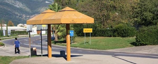 statia de langa aeroport din Muntenegro