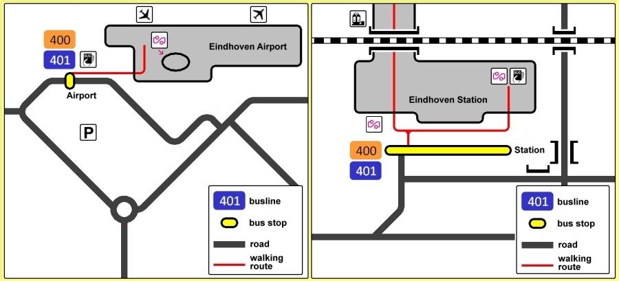 Locul de oprire al autobuzelor 400 și 401