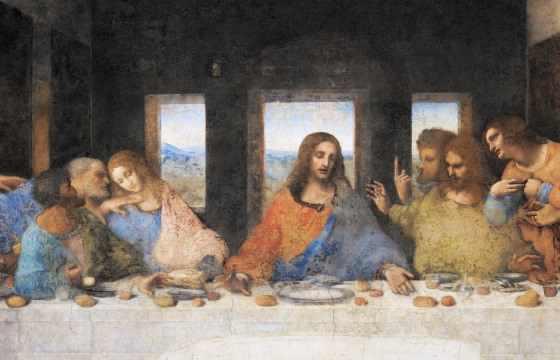 Cina cea de tană - cea mai cunoscută lucrare al lui Leonardo da Vinci