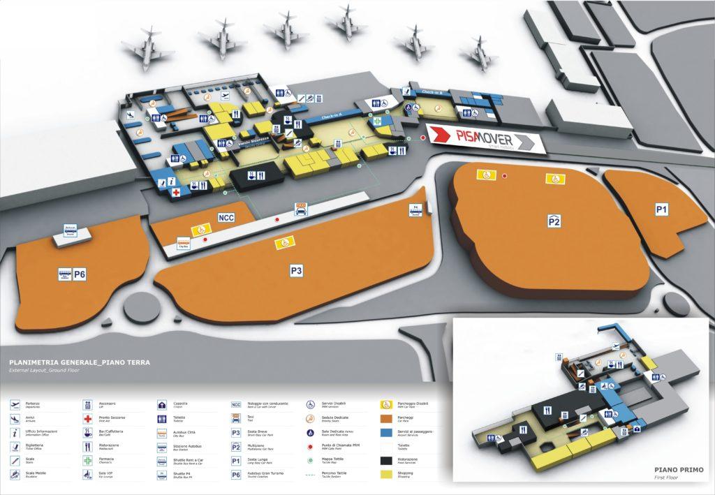 Schema aeroportului din Pisa