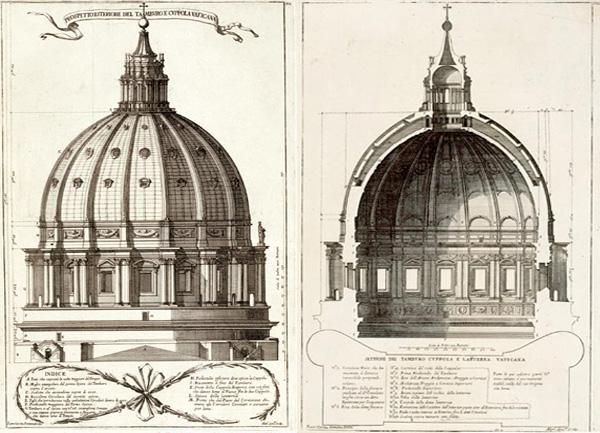 Cupola schițată de Michelangelo