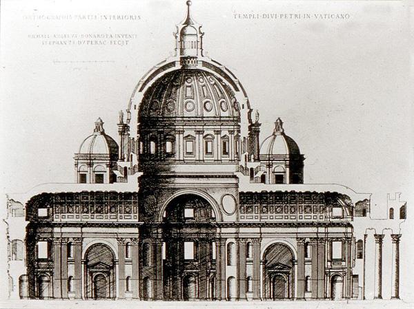 Așa vedea Bazilica marele Michelangelo