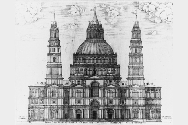 Proiectul Bazilicii propus de Antonio da Sangallo
