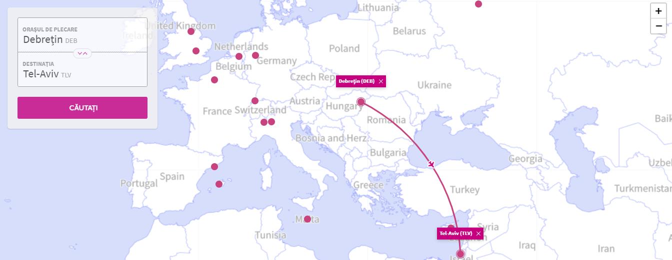 Orașele unde puteți ajunge de la Debrecen la prețuri ieftine