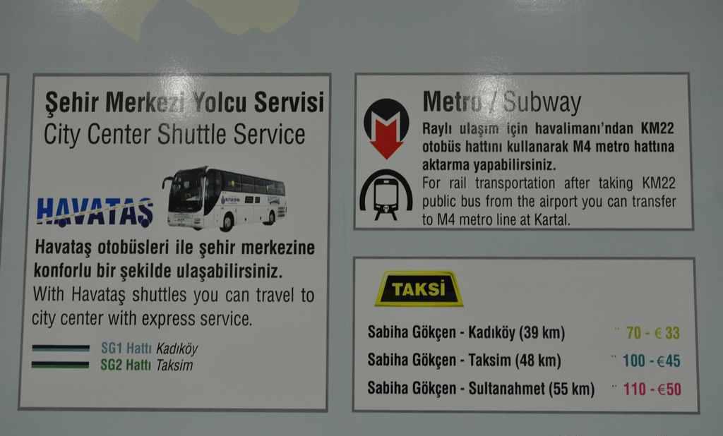 Prețuri taxi Aeroport Sabiha Gokcen - Istambul