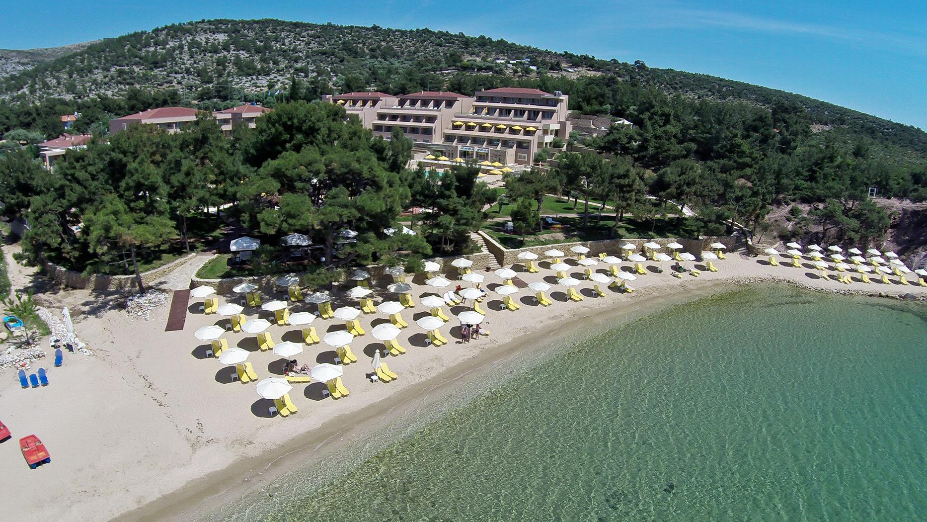 Paradise Beach pe Thassos (fotografie)