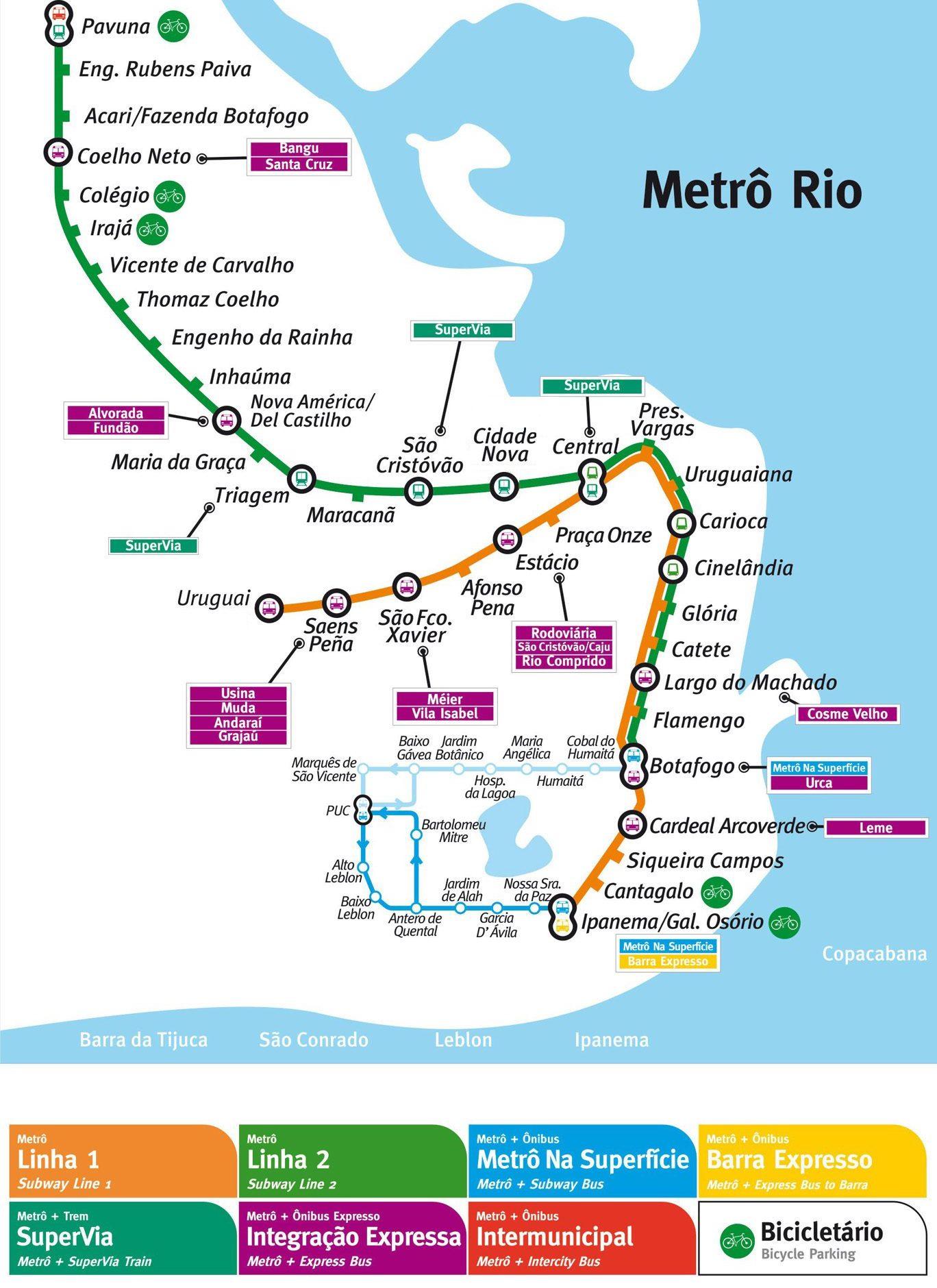 Harta Metro Rio de Janeiro