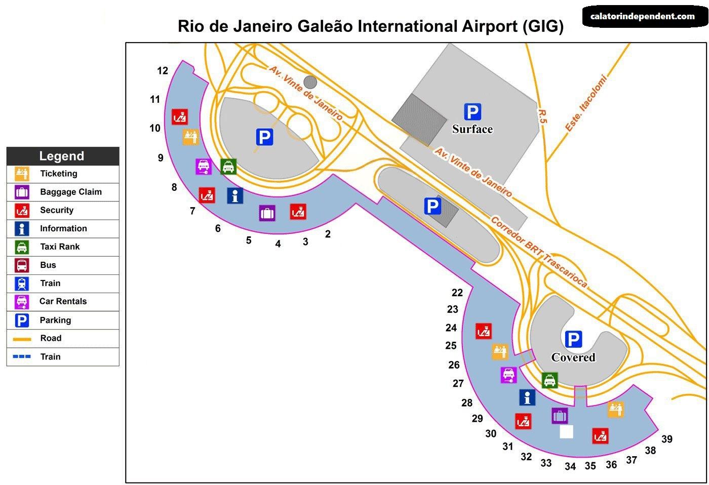 Terminalul aeroportului Rio de Janeiro