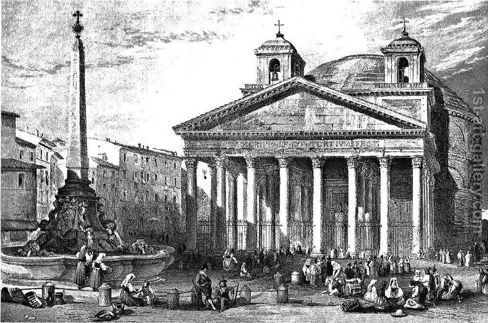 Panteonul de la Roma pe timpuri