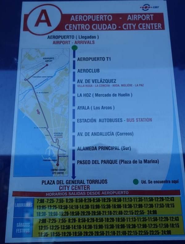 Orarul autobuzului de la aeroport spre centru