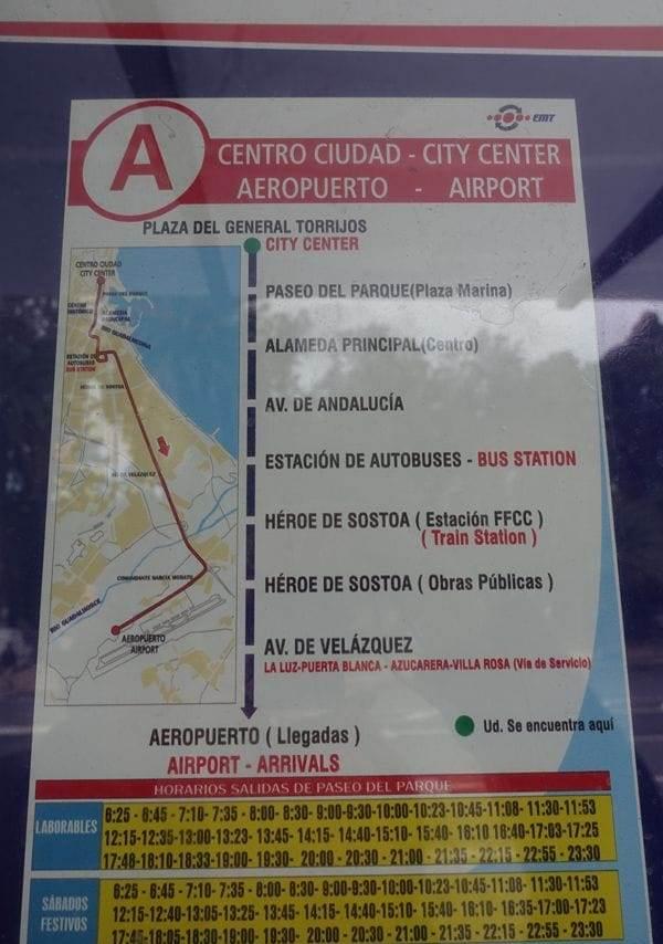 Orarul autobuzului din centru spre aeroport