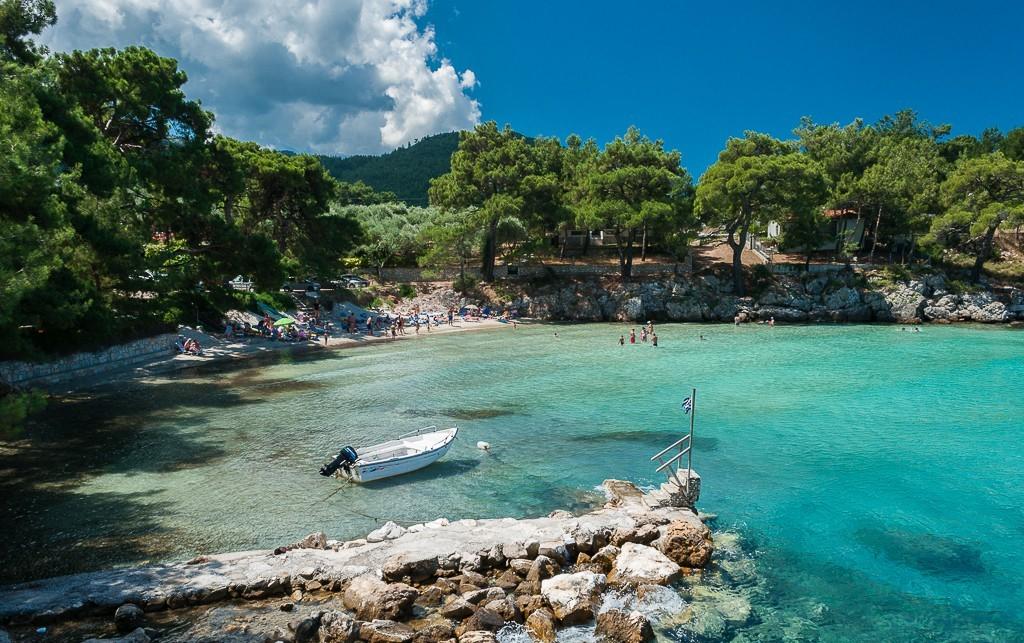 Plaja Glifoneri pe Thassos (fotografie)