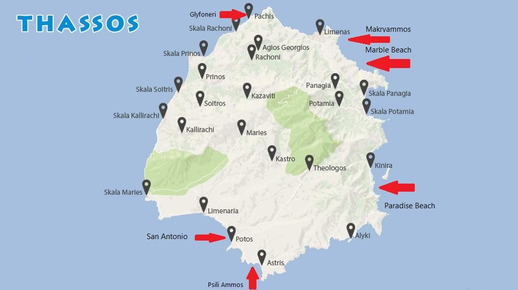 Plaje De Pe Thassos Cu Poze Hartă și Coordonate Calatorii