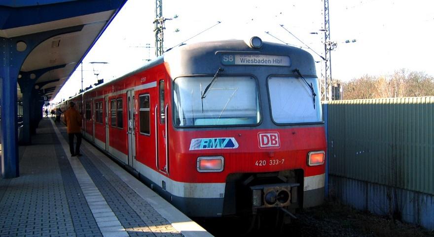 de la aeroport la Frankfurt cu trenul