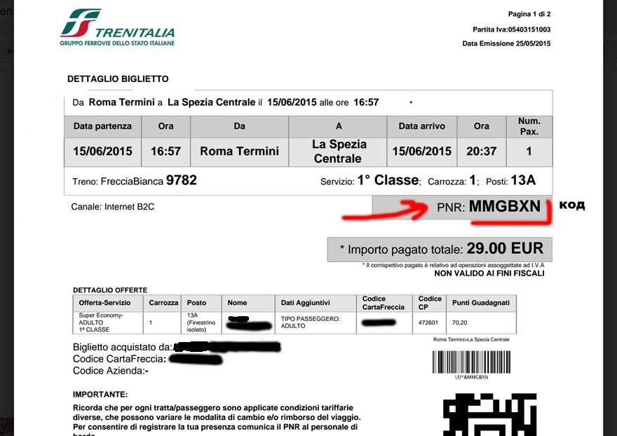 Bilet Trenitalia