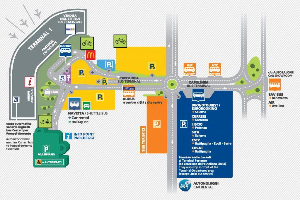 Harta aeroportului Napoli