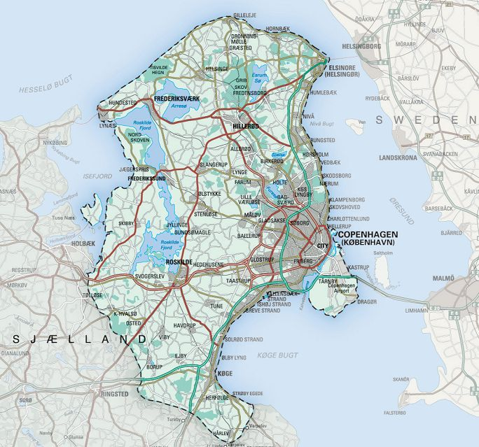 Zona de valabilitate Copenhaga CityCard